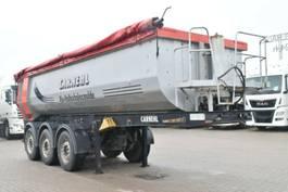 tipper semi trailer Carnehl Halbschale Alumulde ca.25m³ Okuslide Lift 2011