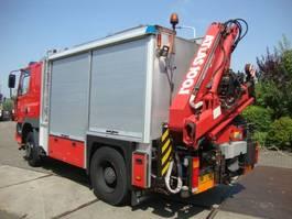 fire truck DAF 75 4X4 MET 10 TON HIABKRAAN EN LIER GENERATOR 1997