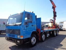 crane truck Volvo FL 12.340 + Manual + PTO + Palfinger Crane + 8X4 + BLAD - BLAD 1997