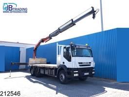 platform truck Iveco Trakker 410 6x4, Manual, Plafinger crane, Remote,  Steel suspension, Air... 2008