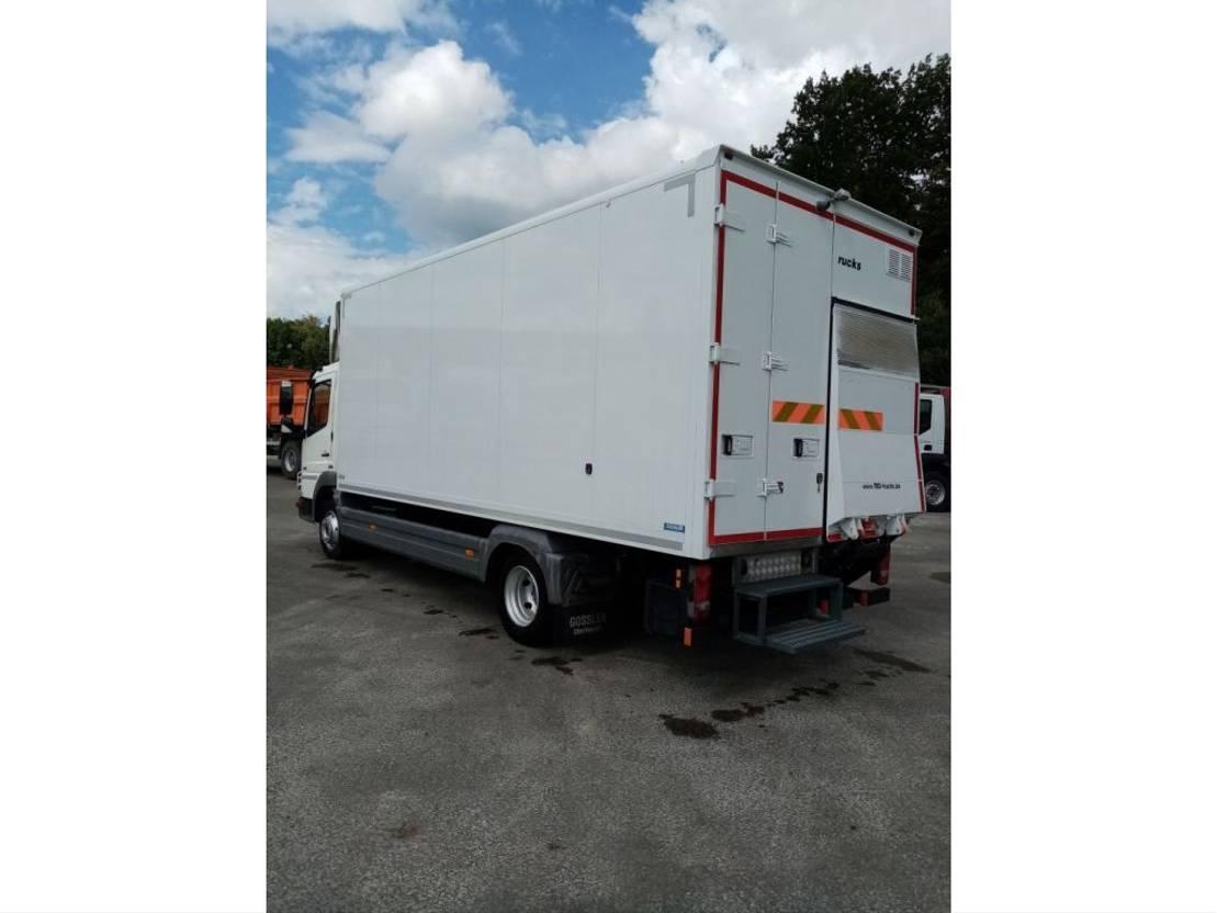 closed box truck Mercedes-Benz Atego 816 halve laadklep D'hollandia als nieuw/euro 5! 2011