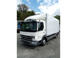 closed box truck > 7.5 t Mercedes Benz Atego 816 halve laadklep D'hollandia als nieuw/euro 5! 2011