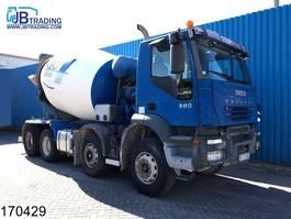concrete mixer truck Iveco Trakker 380 8x4, Baryval mixer, Steel suspension, Manual, Airco 2006