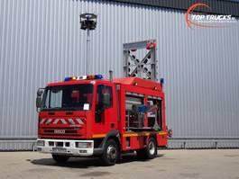 fire truck Iveco EuroCargo Tector 80E17 Calamiteitenauto, 27 kva 400 Volt Generator 2005