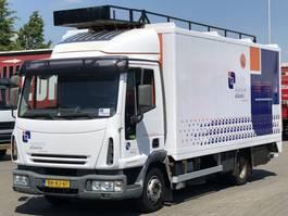 closed box truck > 7.5 t Iveco EUROCARGO 80E / 75 GESLOTEN OPBOUW / BLADGEVEERD 2006