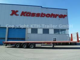 flatbed semi trailer KAESSBOHRER Plattform Leicht MEGA SPS 3 AUCH MIETE