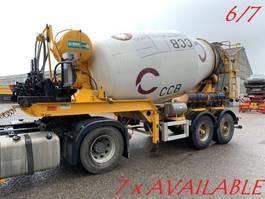 concrete mixer semi trailer Mol 7x  MOL (6/7) LT AUTOMIX AM 10m³ - BELGISCHE PAPIEREN / PAPIERS BELGES -... 2009