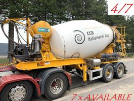concrete mixer semi trailer Mol 7x  MOL (4/7) LT AUTOMIX AM 10m³ - BELGISCHE PAPIEREN / PAPIERS BELGES -... 2009