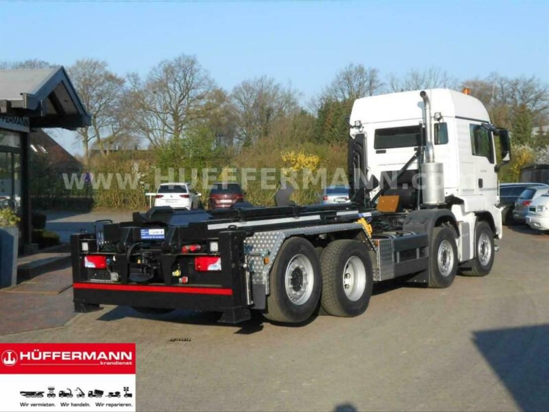 container truck MAN TGS 35.470 8x2-4 BL ZTA35 2-Taschensilosteller 2020