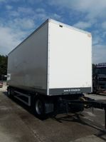 closed box trailer Lecitrailer Gesloten trailer met roldeur en schijfremmen