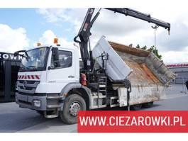 tipper truck > 7.5 t Mercedes Benz Axor 2633 , 6x4  , E5 , 2-side tipper , Crane Hiab 122 2012