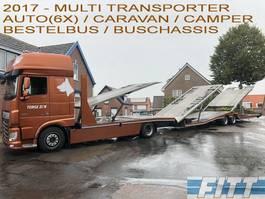 car transporter truck DAF FA XF440 MULTI TRANSPORTER 2017