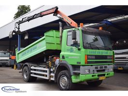 tipper truck > 7.5 t DAF CF 320, 4x4, Steel springs, 2 Way tipper, Palfinger PK 9501, Truckcenter... 2001