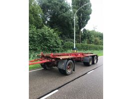 container chassis trailer Bulthuis Bulthuis 3 asser bladgeveerd 1989