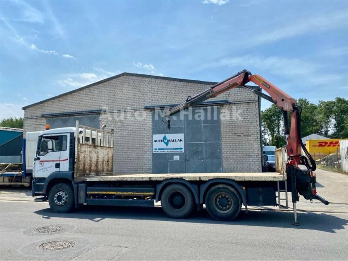 Pritsche offen LKW MAN TGA 33.350 6x4 Blatt/Manual Palfinger 15500