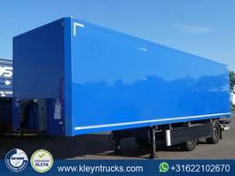 closed box semi trailer Tracon TB1218 SLIDER LZV 2012