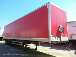 closed box semi trailer Samro Droge vracht Roldeur Hydr. laadklep 2012