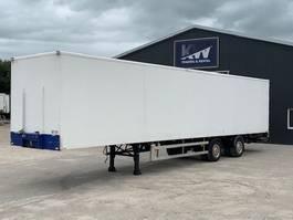 closed box semi trailer Tracon Gestuurde kastentrailer met laadklep 1999