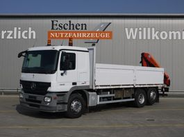 autocarro con sponda laterale ribaltabile Mercedes-Benz 2532 L, Palfinger PK 12502 Kran, Klima, Blatt / Luft 2008