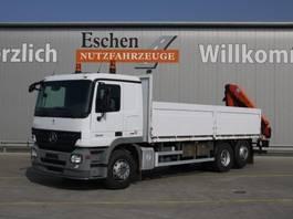 Pritsche offen LKW Mercedes-Benz 2532 L, Palfinger PK 12502 Kran, Klima, Blatt / Luft 2008