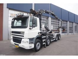 container truck Ginaf X 4241 S 8x4 Palfinger 17 ton/meter Z-kraan 2012
