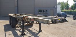 container chassis semi trailer Pacton 2 Axel container trailer full steel 1993