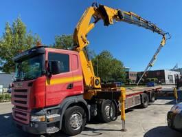 platform truck Scania R480 8X2 MANUAL EURO 4 + FASSI F600.26 + FLYJIB MET REMOTE 2007