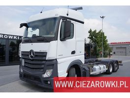 chassis cab truck Mercedes Benz Actros 2542 , E6 , 6x2 ,Low Deck , BDF,   retarder , chassis 7,6 2018
