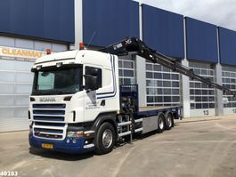 camion grue Scania R 380 Hiab 37 ton/meter laadkraan 2008