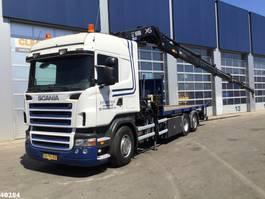 camion grue Scania R 380 Hiab 42 ton/meter laadkraan 2007