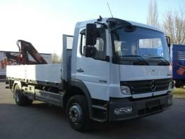 drop side truck Mercedes Benz 1218L / KRAN