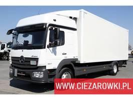 closed box truck > 7.5 t Mercedes Benz Atego 1527 L / e6 / Junge body 18 EPAL / lift palfinger 1,500kg 2018