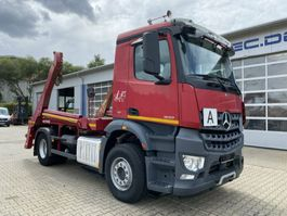 container truck Mercedes Benz Arocs 1833 4X2 Absetzkipper Palfinger PAK 13 SC 2014