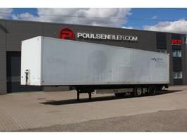 closed box semi trailer Fliegl 13,6 meter 2-axle city box 2008