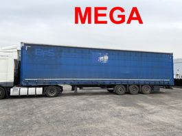 sliding curtain semi trailer Kögel S24-1  Mega 3 m Innenhöhe 3 Achs Planenauflieger 2014
