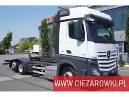 chassis cab truck Mercedes Benz Actros 2545 , E6 , 6x2 , Retarder , chassis 7m , ACC , 2 x bed 2018