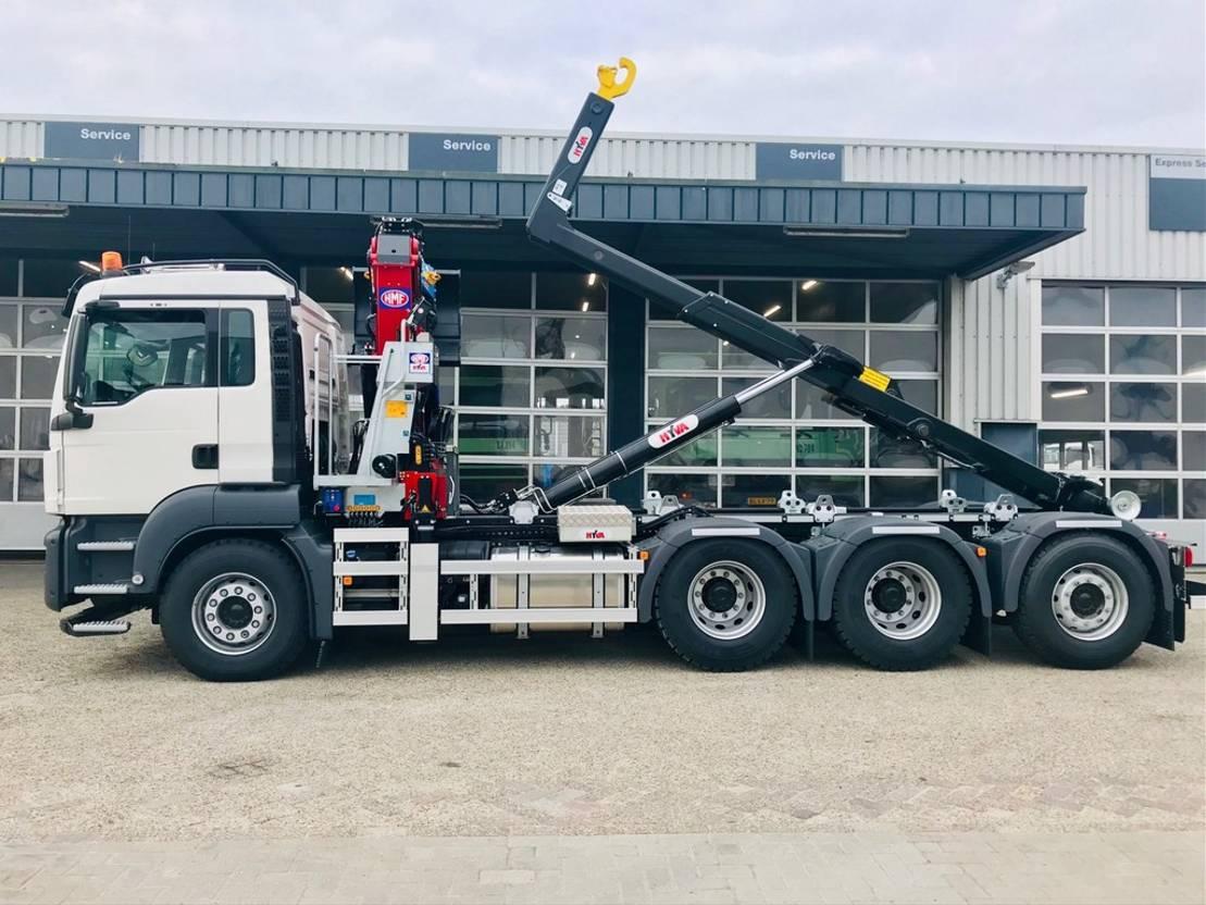 container truck MAN TGS 35.430 8x4-4 BL kraan_haak 2020