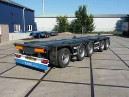 container chassis semi trailer D-TEC CT-5305D - 53.000 Kg - 5 Axle - Nieuwe APK - Top conditie! 2003