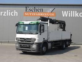 drop side truck Mercedes Benz 2541 L, 6x2, Palfinger PK 18001 L Kran 2009