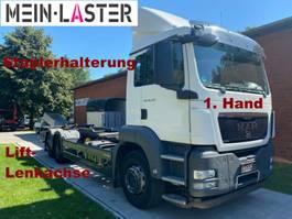 chassis cab truck MAN TGS 26.320 6x2 Lift-Lenkachse Staplerhalterung