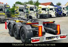 chassis semi trailer KAESSBOHRER 20 FT ADR Tank, Liftachse, nur 3,2 t., MIETEN?