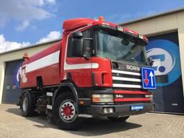 Road sweeper truck Scania P220 P94 DB4X2NA Pk + Bucher Schorling OPTIFANT 70 Veegmachine-Sweeper-Kehrma... 2000
