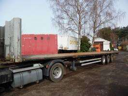 flatbed semi trailer Van Hool platte oplegger 3-asser MEGA merk: Van Hool 2005