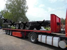 flatbed semi trailer Pacton Pacton platte oplegger 3-asser 2009
