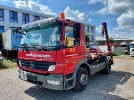 camión contenedor Mercedes-Benz Atego 1222 K Tele Absetzkipper Euro 4