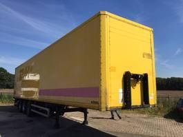 closed box semi trailer Kögel S***24 PLYWOD GESLOTEN  met klep 2007