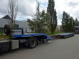 semi lowloader semi trailer Nooteboom 4 ASSIGE DIEPLADER / STUURAS / NL REGESTRATIE /UITSCHUIFBAAR 2008