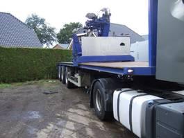 flatbed semi trailer Pacton kraanoplegger 2002