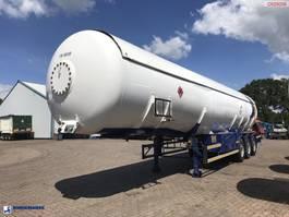 Tankauflieger Auflieger Hobur Gas tank steel 53 m3 + pump 2001