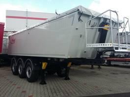tipper semi trailer Fliegl 25 cbm Stahl/ Alu Rechteck-Hinterkipper